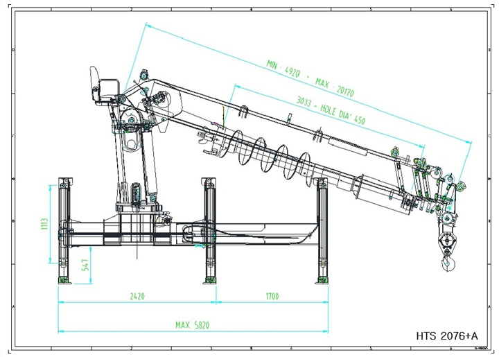 Telescopic Slewing Crane : Hts a l sam yang high tech