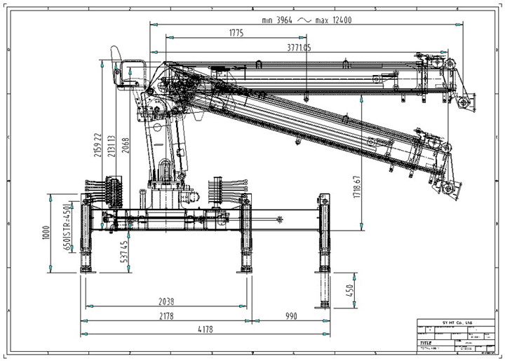 Telescopic Slewing Crane : Crane samyang high tech